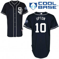 San Diego Padres #10 Justin Upton Authentic Navy Blue Alternate Cool Base Jersey