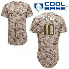 San Diego Padres #10 Justin Upton Authentic Camo Alternate Cool Base Jersey