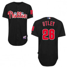 Philadelphia Phillies #26 Chase Utley Black Jersey