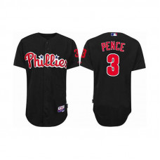 YOUTH Philadelphia Phillies #3 Hunter PenceBlack Cool Base Jersey
