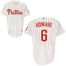 YOUTH Philadelphia Phillies #6 Ryan HowardWhite Red Strip Home Jersey