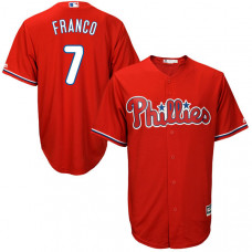 Maikel Franco #7 Philadelphia Phillies Red Cool Base Jersey