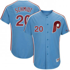 Philadelphia Phillies #20 Mike Schmidt Light Blue 1982 Throwback Turn Back the Clock Authentic Player Jersey
