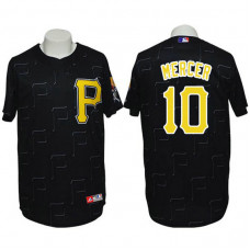 Pittsburgh Pirates #10 Jordy Mercer Conventional 3D Version Black Jersey