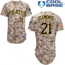 Pittsburgh Pirates #21 Roberto Clemente Authentic Camo Alternate Cool Base Jersey