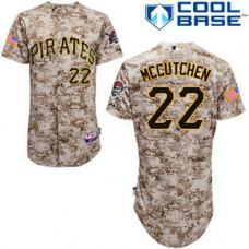 Pittsburgh Pirates #22 Andrew McCutchen Authentic Camo Alternate Cool Base Jersey
