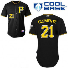 Pittsburgh Pirates #21 Roberto Clemente Black Cool Base Jersey