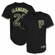 Pittsburgh Pirates #21 Roberto Clemente Black Fashion Jersey