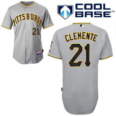 Pittsburgh Pirates #21 Roberto Clemente Grey Cool Base Jersey