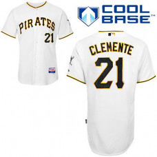 Pittsburgh Pirates #21 Roberto Clemente White Cool Base Jersey
