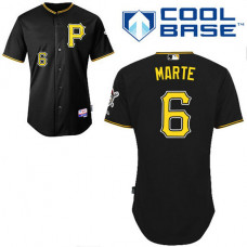 YOUTH Pittsburgh Pirates #6 Starling MarteAuthentic Black Alternate Cool Base Jersey
