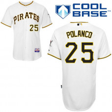YOUTH Pittsburgh Pirates #25 Gregory PolancoAuthentic White Home Cool Base Jersey