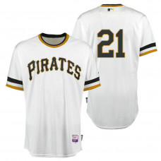 Pittsburgh Pirates #21 White Roberto Clemente Day 1971 Throwback Jersey