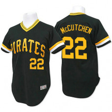 Pittsburgh Pirates #22 Andrew Mccutchen Black Throwback Flexbase Authentic Collection Jersey