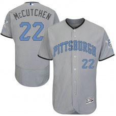 Andrew McCutchen #22 Pittsburgh Pirates 2017 Father's Day Grey Flex Base Jersey