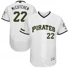 Andrew McCutchen #22 Pittsburgh Pirates 2017 Memorial Day White Flex Base Jersey
