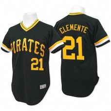 Pittsburgh Pirates #21 Roberto Clemente Black Throwback Flexbase Authentic Collection Jersey