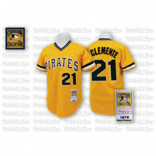 Pittsburgh Pirates #21 Roberto Clemente Yellow Jersey
