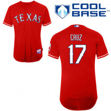 YOUTH Texas Rangers #17 Nelson CruzRed Alternate 1 Cool Base Jersey