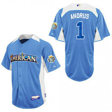 Texas Rangers #1 Elvis Andrus Blue 2012 All-Star BP Jersey