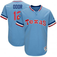 Texas Rangers #12 Rougned Odor Light Blue 1977 Throwback Turn Back the Clock Authentic Player Jersey