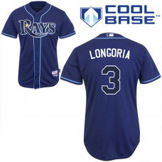 YOUTH Tampa Bay Rays #3 Evan LongoriaDark Blue Alternate Cool Base Jersey