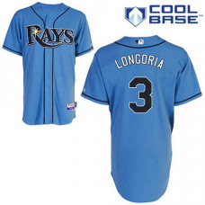 YOUTH Tampa Bay Rays #3 Evan LongoriaLight Blue Alternate 2 Cool Base Jersey