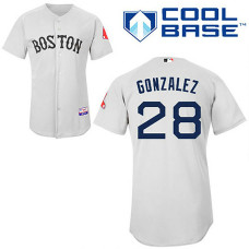 YOUTH Boston Red Sox #28 Adrian GonzalezGrey Cool Base Jersey