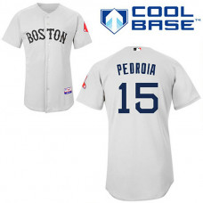 YOUTH Boston Red Sox #15 Dustin PedroiaGrey Cool Base Jersey