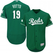 Cincinnati Reds #19 Joey Votto Green Authentic Collection Celtic Jersey