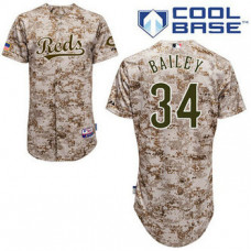 YOUTH Cincinnati Reds #34 Homer BaileyAuthentic Camo Alternate Cool Base Jersey