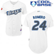 YOUTH Toronto Blue Jays #24 Ricky RomeroWhite New Cool Base Jersey
