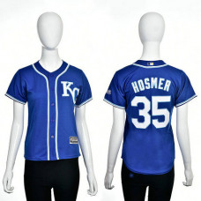 Women - Kansas City Royals #35 Eric Hosmer Royal 2016 Cool Base Jersey