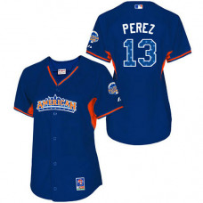 Kansas City Royals #13 Salvador Perez WoAuthentic Royal Blue American League 2013 All Star BP Jersey