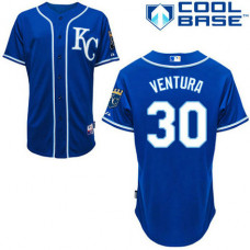 YOUTH Kansas City Royals #30 Yordano VenturaAuthentic Royal Blue Cool Base Jersey