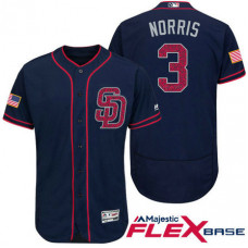 San Diego Padres #3 Derek Norris Navy Stars & Stripes 2016 Independence Day Flex Base Jersey