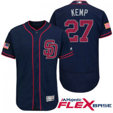 San Diego Padres #27 Matt Kemp Navy Stars & Stripes 2016 Independence Day Flex Base Jersey