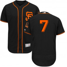 San Francisco Giants Aaron Hill #7 Black 2017 Alternate Flex Base Jersey