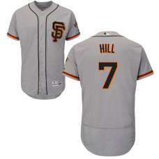 San Francisco Giants Aaron Hill #7 Grey Alternate Flex Base Jersey
