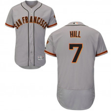 San Francisco Giants Aaron Hill #7 Grey Road Flex Base Jersey