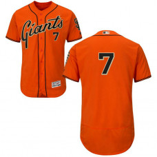San Francisco Giants Aaron Hill #7 Orange Alternate Flex Base Jersey