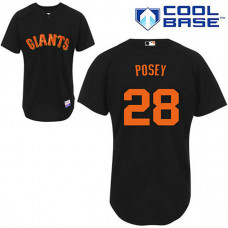 San Francisco Giants #28 Buster Posey Black Jersey