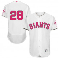 Buster Posey #28 San Francisco Giants 2017 Mother's Day White Flex Base Jersey