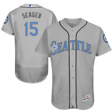 Seattle Mariners #15 Kyle Seager Grey Fashion 2016 Father's Day Flex Base Jersey