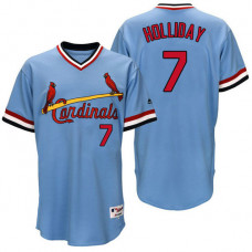St. Louis Cardinal Matt Holliday #7 Light Blue Authentic Turn Back the Clock Jersey