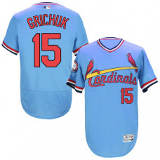 St. Louis Cardinals #15 Randal Grichuk Blue Throwback Authentic Flexbase Jersey