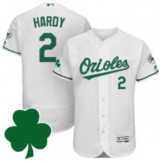 Baltimore Orioles #2 J.J. Hardy St. Patricks Day White Celtic Flexbase Authentic Collection Jersey