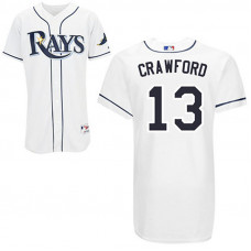 Tampa Bay Rays #13 Carl Crawford White Home Jersey