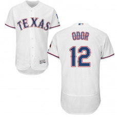 Texas Rangers #12 Rougned Odor Home White Authentic Collection Flex Base Jersey