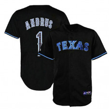 Texas Rangers #1 Elvis Andrus Black Fashion Jersey